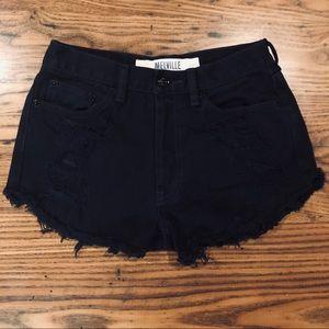 Brandy Melville Destroyed Denim Cutoff Shorts 26